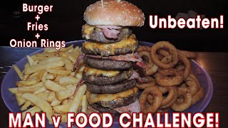 Man vs Food Burger UNDEFEATED Challenge at Kirkton Inn | Randy Santel