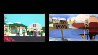 South Park Intro from season 1 compared to season 18