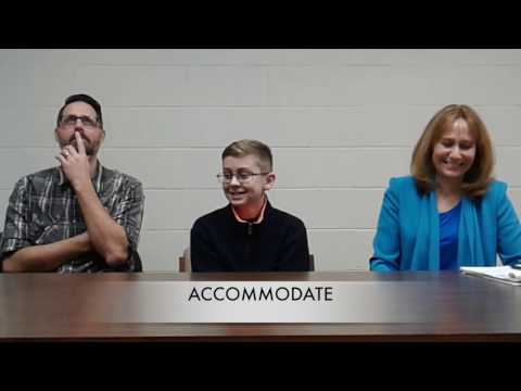 Bobby and Deb Challenge Castle North Middle School Spelling Champ to a Spell-Off