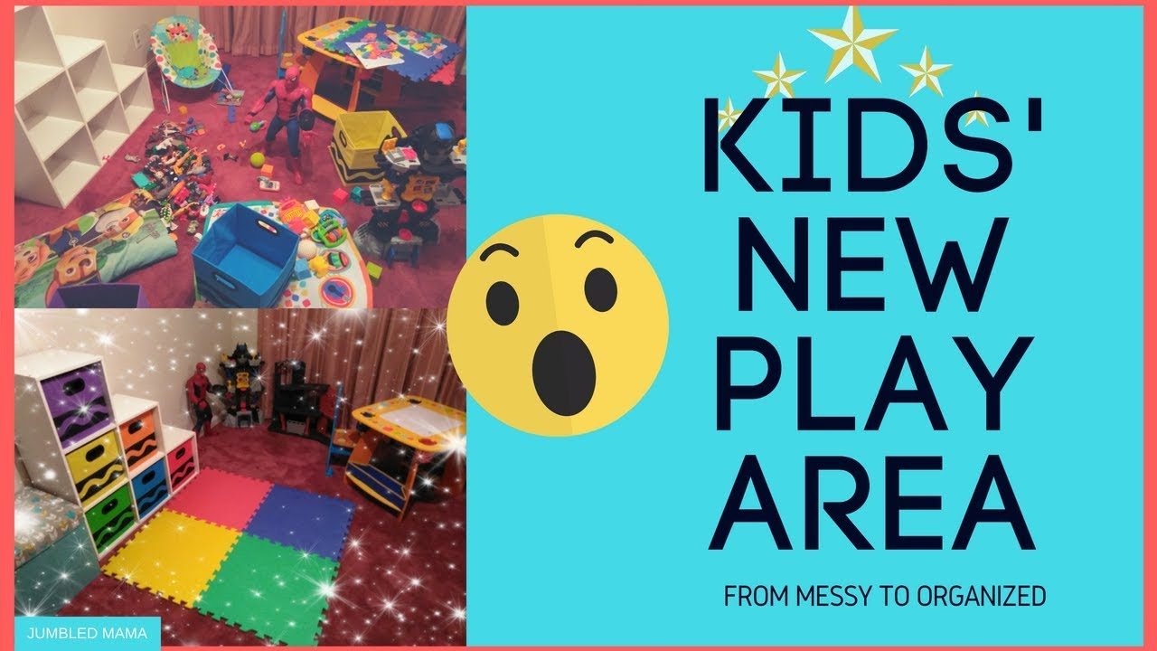 Kid's Play Area Transformation | Play Room Ideas For Small Spaces