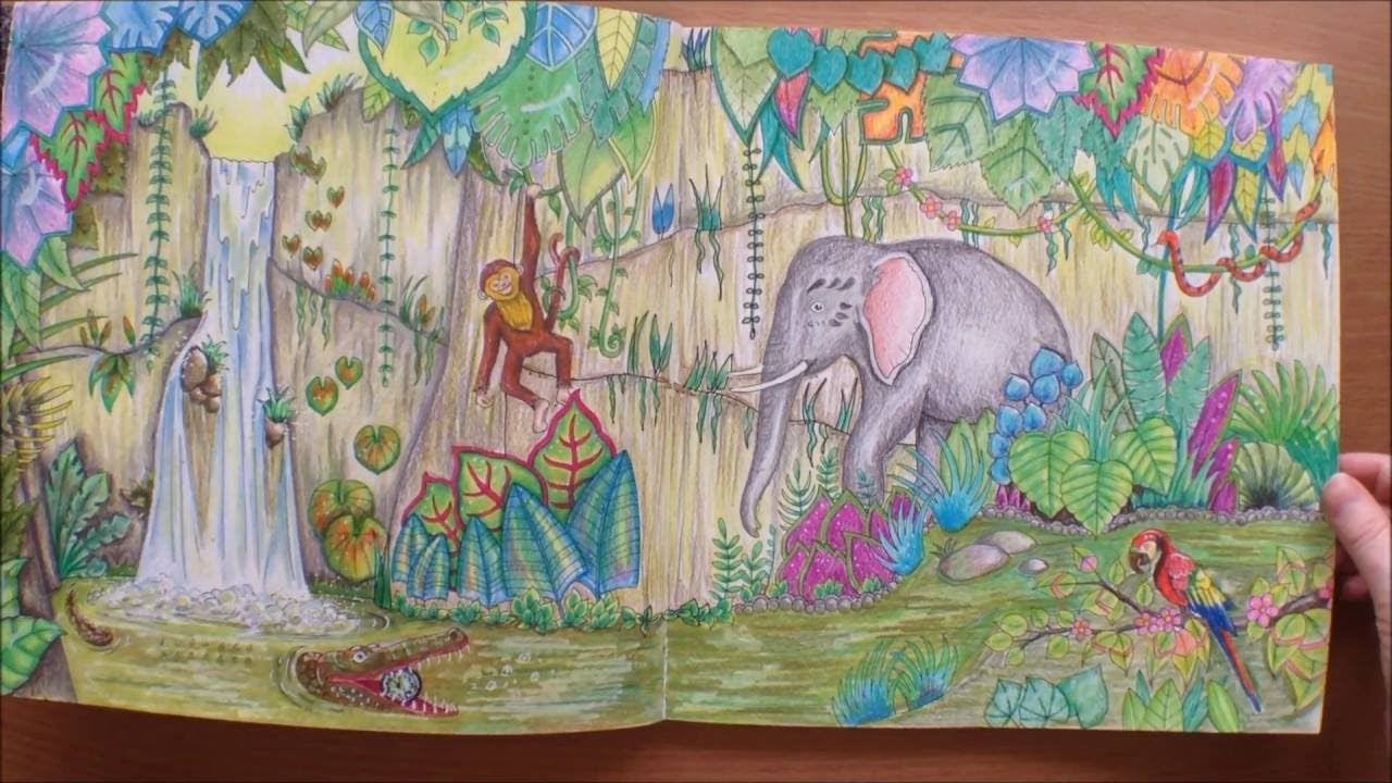 Magical Jungle By Johanna Basford Colouring Book Flipthrough Youtube