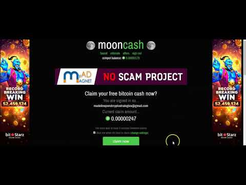 Moon Bitcoin Cash Faucet Review And Walkthrough