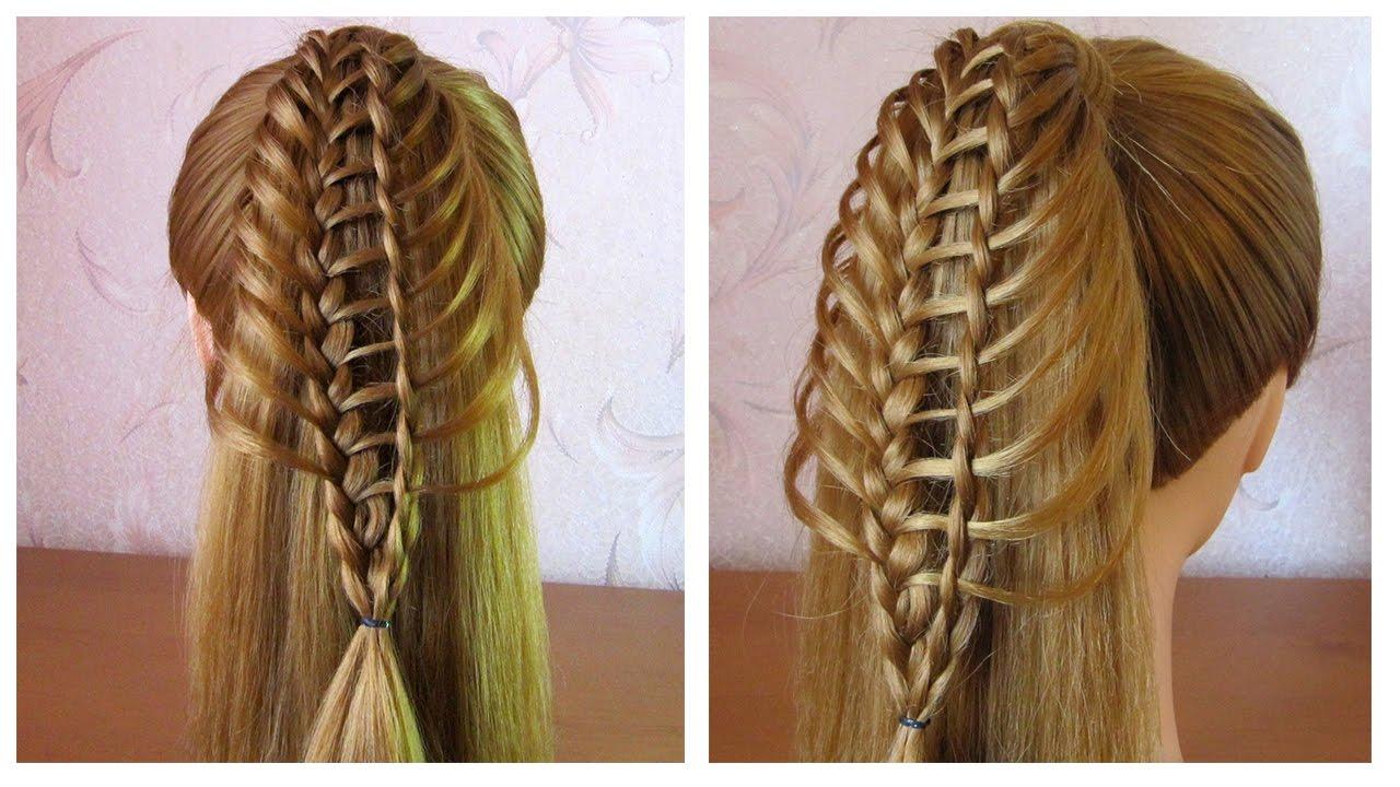 Tuto coiffure simple queue de cheval originale ✨ Coiffure pour cheveux mi  long/long