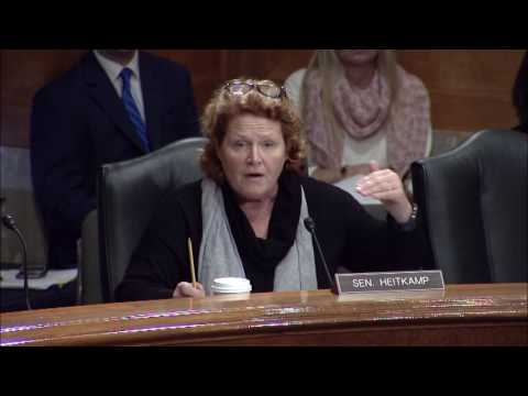 Heitkamp Emphasizes Importance of Local Law Enforcement Grants at Senate Hearing