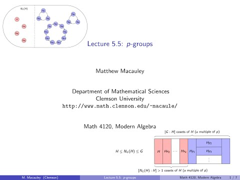 Visual Group Thoery, Lecture 5.5: p-groups