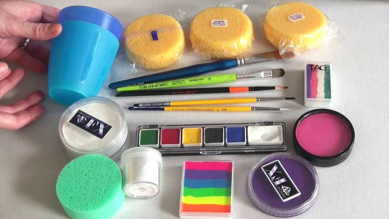 produits essentiels et kit pour d butant comment maquiller les enfants 1 re partie youtube. Black Bedroom Furniture Sets. Home Design Ideas
