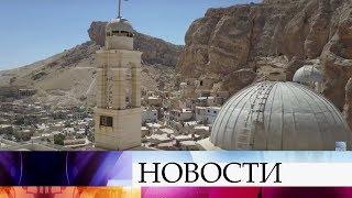 ВСирии реставраторы восстанавливают разрушенный боевиками монастырь Святой Феклы