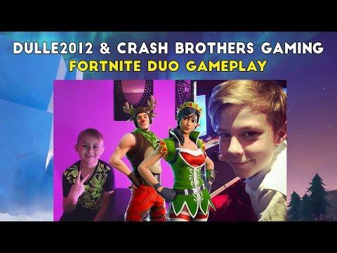 Lirar Fortnite med Hugo från Crash Brothers Gaming!😄 | Gameplay Video