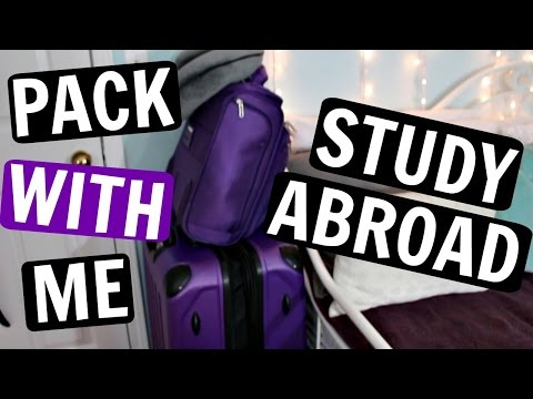 PACK WITH ME for COLLEGE | Study Abroad Packing | Sarah Hass