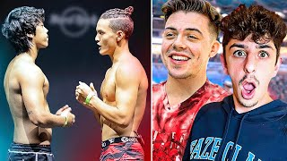 YouTubers React to FaZe Jarvis vs Michael Le Face to Face