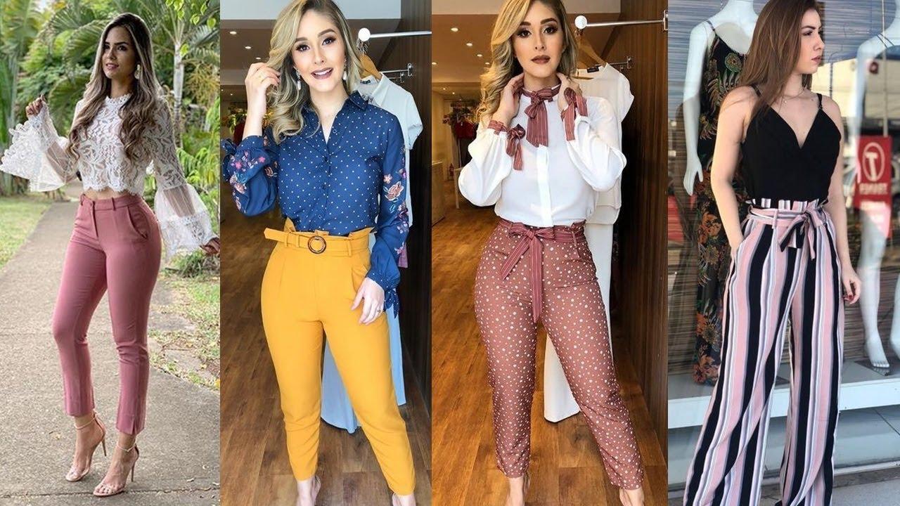 Outfits Con Pantalones De Moda 2019 Pantalones De Vestir Ideas De Outfits