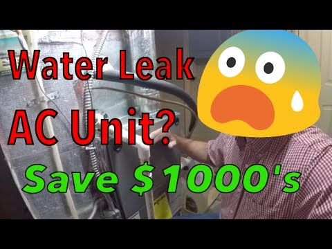 Home AC Leaking Water On Floor?  Air conditioner water leak - EASY Fix - save yourself $1,000's