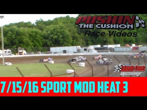 Lafayette County Speedway 7/15/16 Sport Mod Heat 3