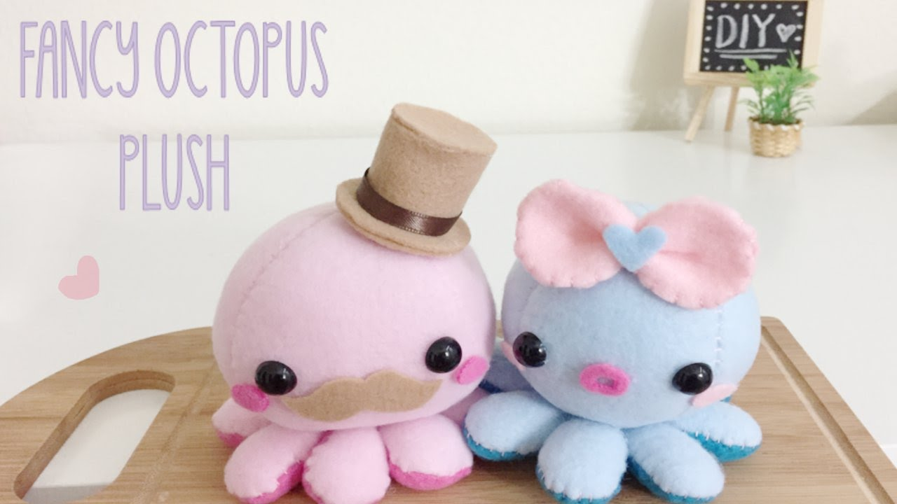 Diy Octopus Fancy Plush Tutorial Youtube