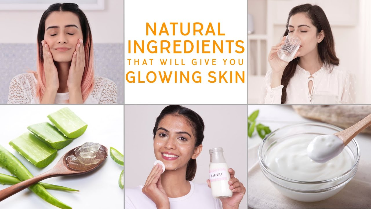 The Most Common Natural Ingredients For Glowing Skin  Glamrs Skin Care  Secrets