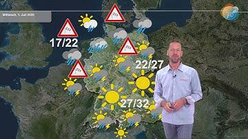 """Aktuelle Wettervorhersage 29. Juni 2020: Nach Regen netter. Dann im Süden Sonne, im Norden """"Herbst""""."""