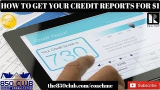 How To Get All 3 Credit Reports & Scores For $1 & Credit Monitoring Services - Improve myFICO 2018
