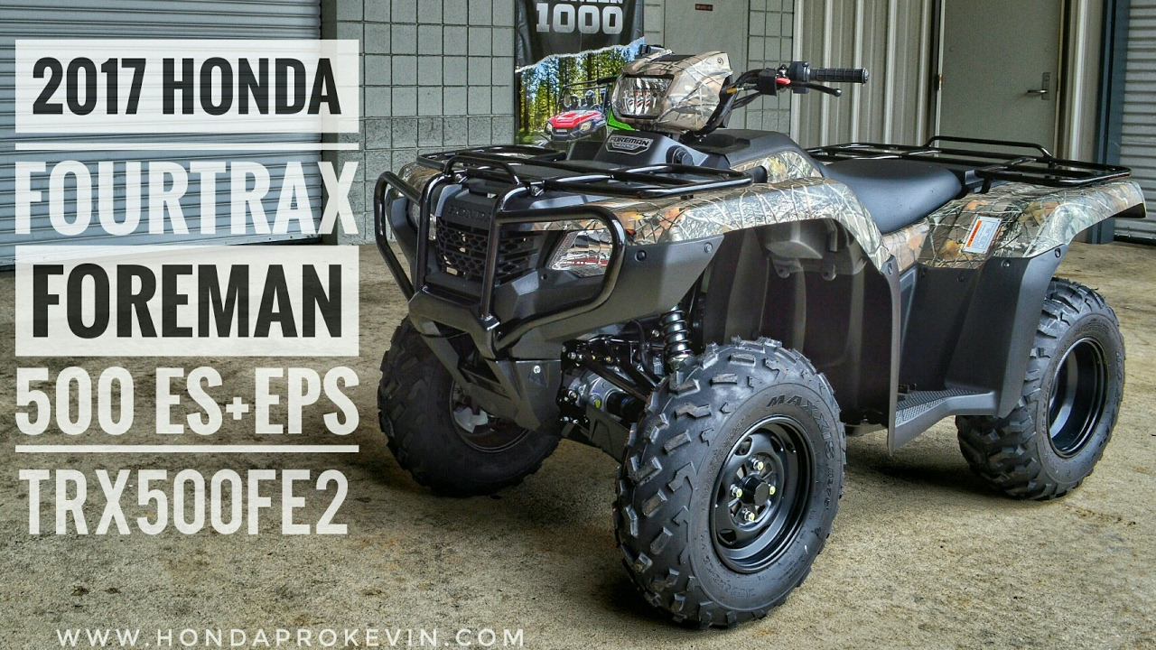 2018 honda 500 foreman.  2018 2017 honda foreman 500 es  eps 4x4 atv trx500fe2h walkaround video   camo hondaprokevincom throughout 2018 honda foreman e