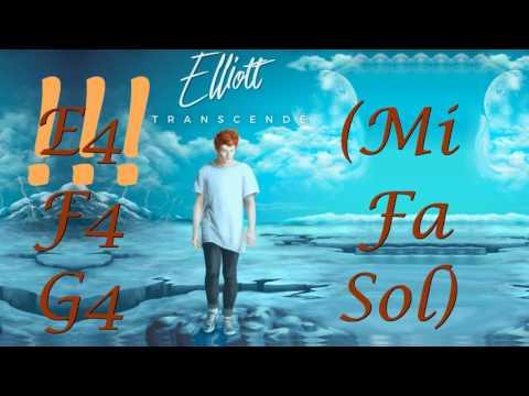 Transcendé Etendue vocale / Vocal Range - Elliott EP : C3 - B4 - C5 / Do2 - Si3 - Do4