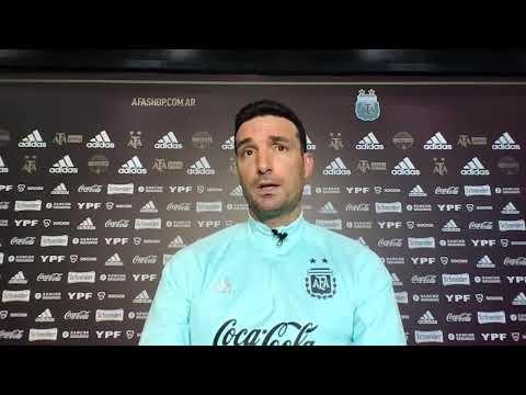 #SelecciónMayor Conferencia de Prensa del DT, Lionel Scaloni. Argentina vs Bolivia.