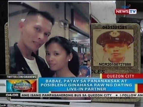 Babae sa Quezon City, patay sa pananaksak at posibleng ginahasa raw ng dating live-in partner