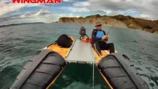 Wingman - catamaran kayaks and motorboat