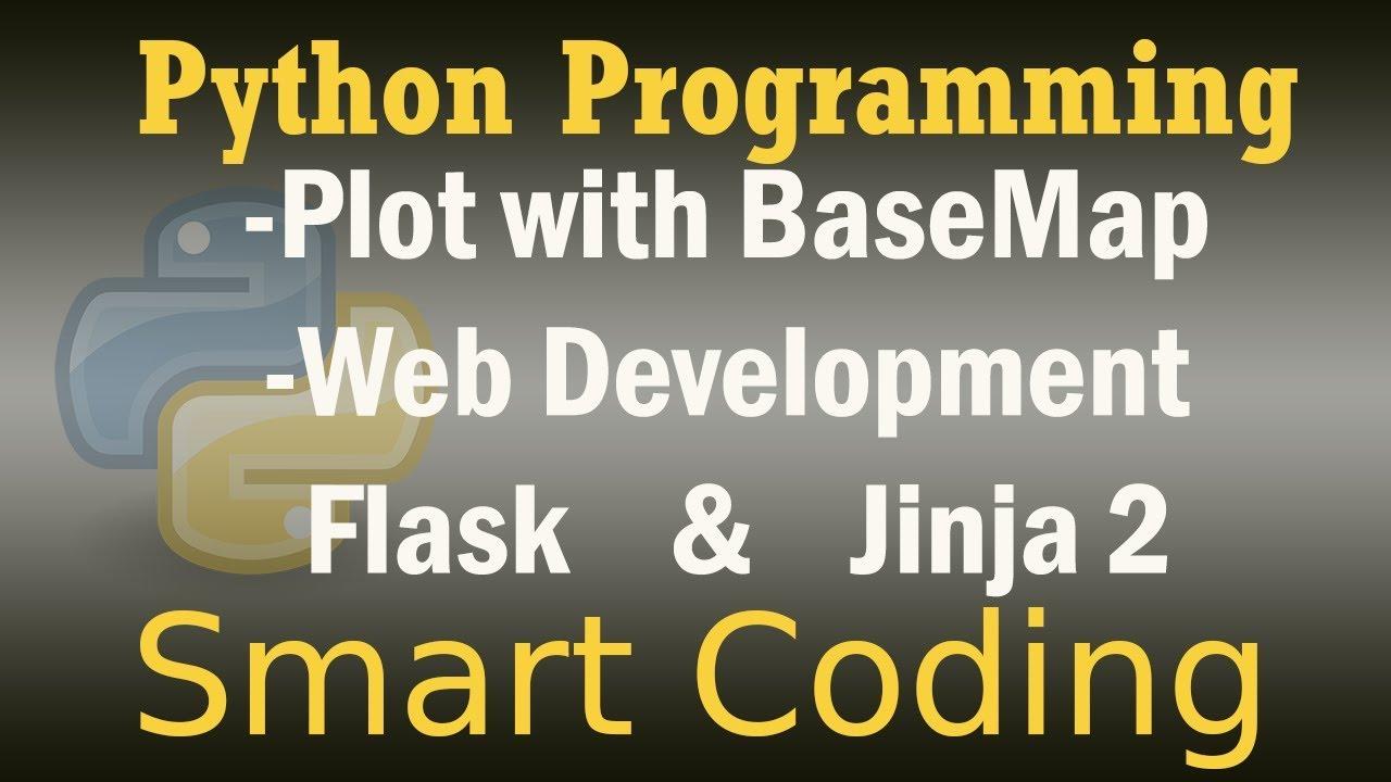 Plotting on Maps With Matplotlib Basemap - Web Development with Flask in  Python - Jinja2