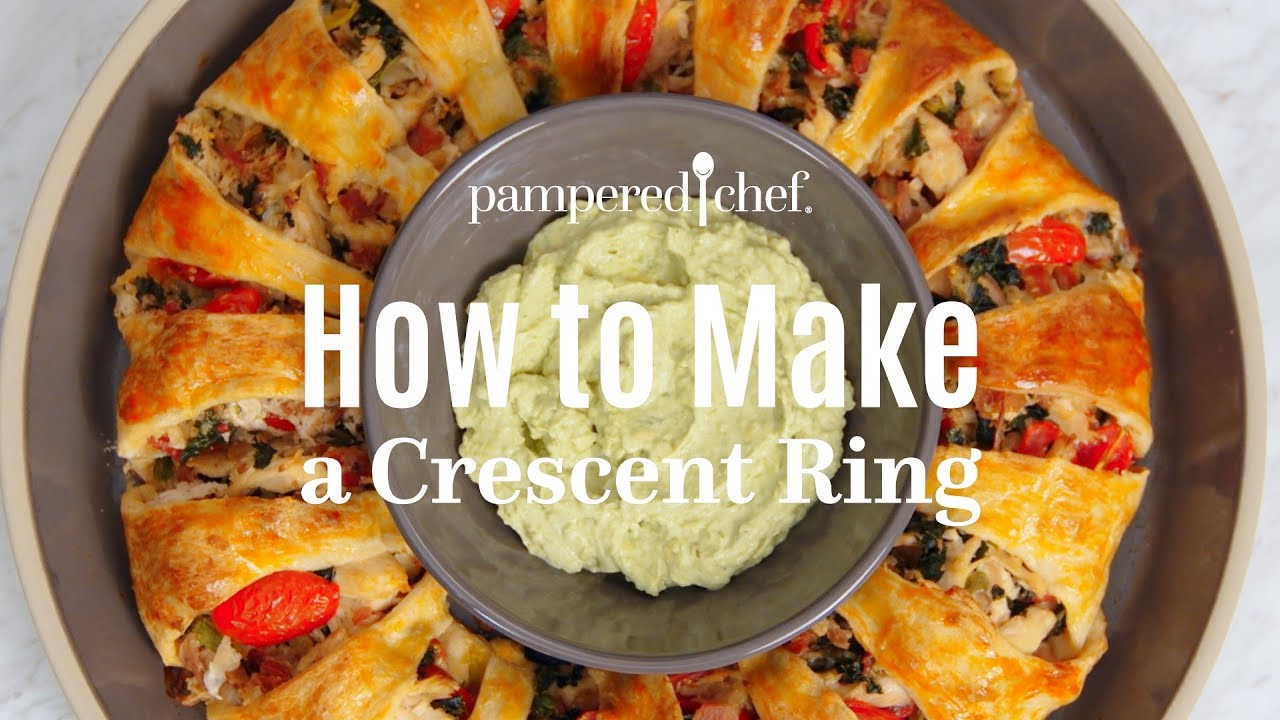 How To Make A Crescent Ring Pampered Chef Youtube