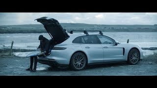 Putting the Panamera Turbo Sport Turismo through its paces in the icy arena of North Sea surfing.