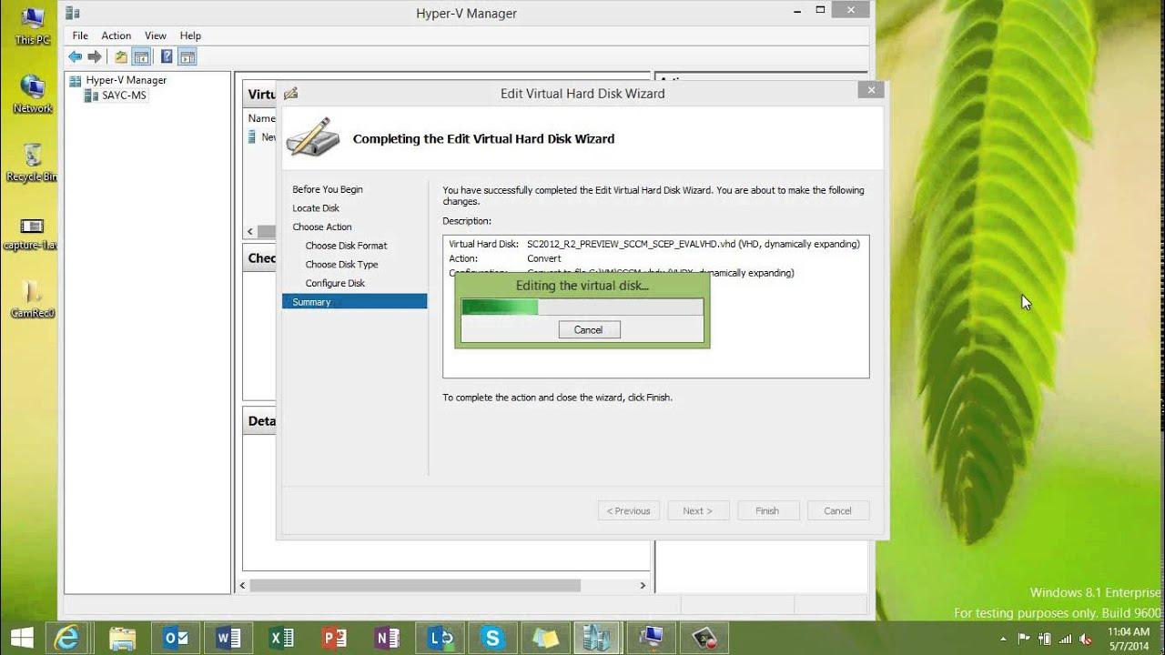 Hyper-V: Converting a VHD to a VHDX