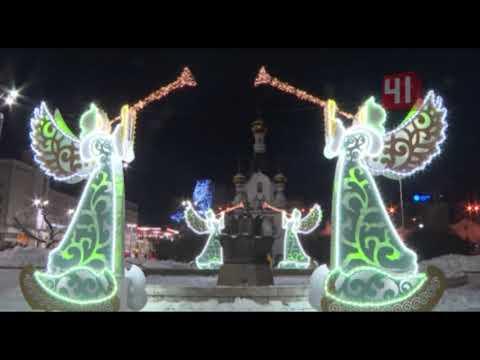 Световые ангелы у храмов/Екатеринбург