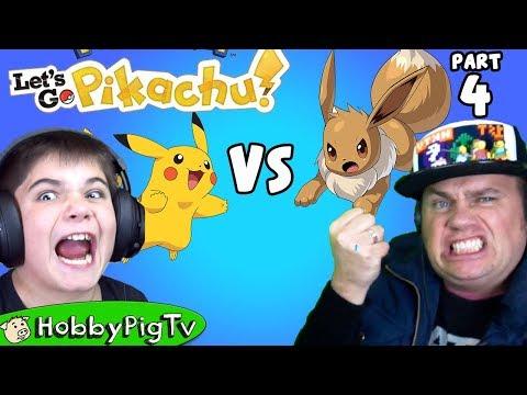 Let & 39; s Go Pikachu 4 Battle HobbyDad & 39; s Eevee của HobbyPigTV
