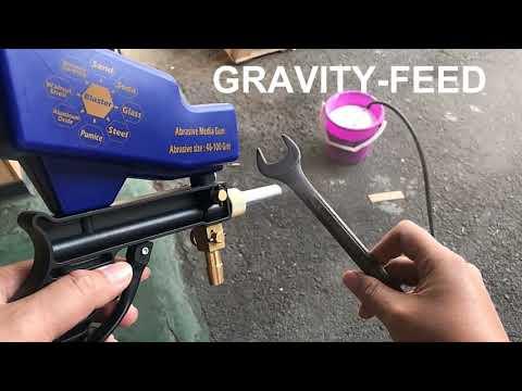 Amazing! How Does LEMATEC Sandblasting Gun Work To Remove Rust?