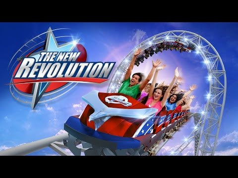 Six Flags The NEW Revolution NEW FOR 2016! Magic Mountain Roller Coaster POV Animation B-Roll