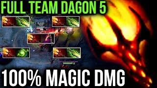 TEAM 100% MAGIC DAMAGE - Dagon 5 Combo Dota 2 Patch 7.07 Cancer Turbo Gameplay