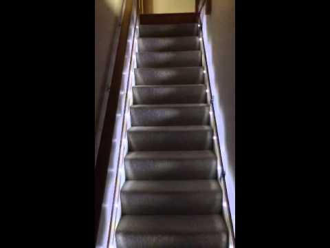 automatic stair lights youtube. Black Bedroom Furniture Sets. Home Design Ideas