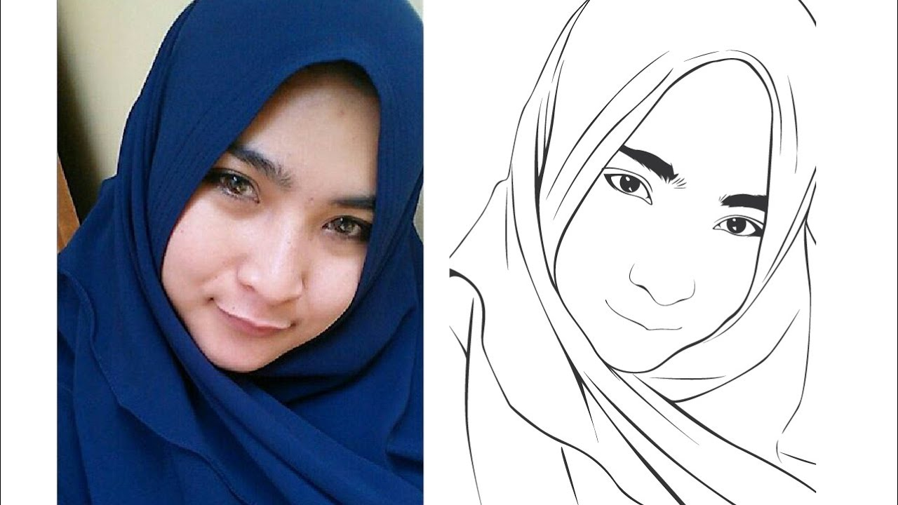 Line Art Portrait : How to draw line art adobe illustrator tutorial youtube