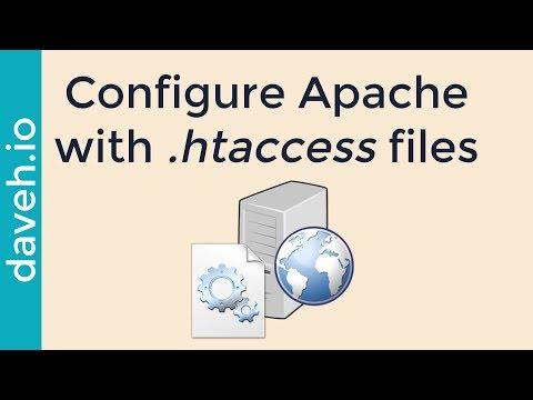 Configure Apache Using .htaccess Files