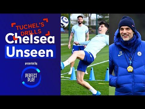 Gilmour's Overhead Kick 😱 Giroud Gets Press-Up Forfeit! | Chelsea Unseen | Tuchel's drills