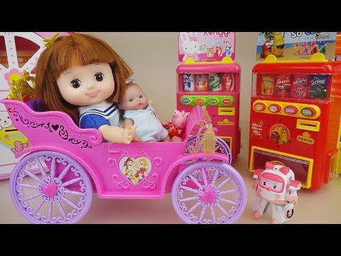 Princess baby doll car and picnic toys baby Doli play
