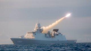 18 raketten de lucht in vanaf fregat Zr. Ms. De Ruyter