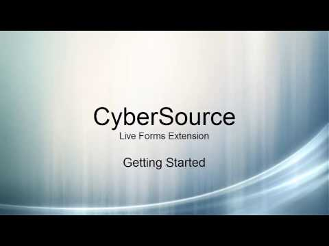 Cybersource: Live Forms Extension Getting Started