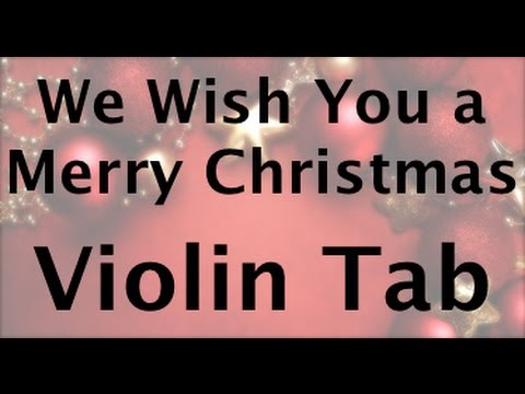 How to play We Wish You a Merry Christmas on the violin