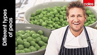 Different types of peas with Curtis Stone