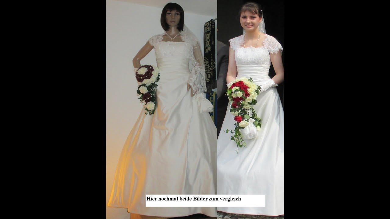 Schaufensterpuppe anziehen (Braut-Hochzeitskleid) - YouTube