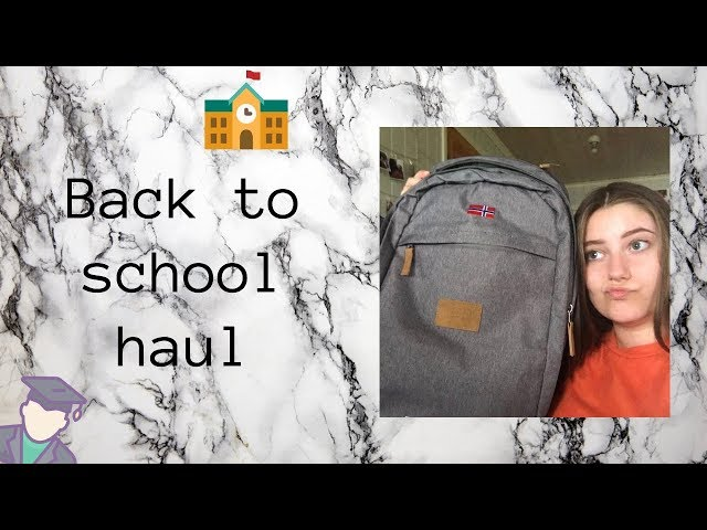 Back 2 school haul