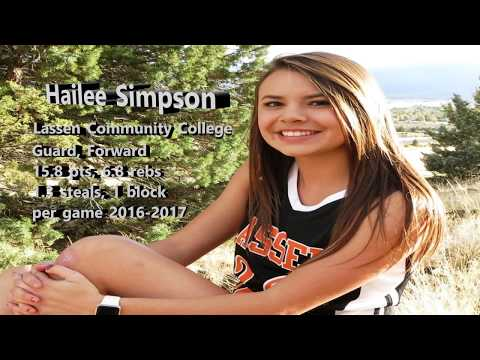 Hailee Simpson -- #10 Lassen Community College -- 2016-2017 Basketball Highlights