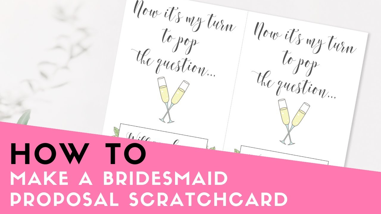 DIY Bridesmaid Proposal Cards With Free Printable The