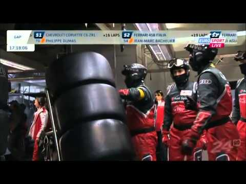 24 Hours of Le Mans Oliver Jarvis Puncture and Spins