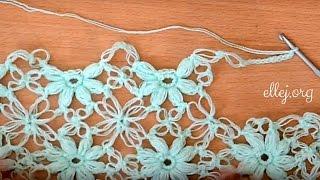 ♥ Дополнительное видео: Бактус, мини-шаль крючком Клематис • Bonus video crochet shawl Clematis